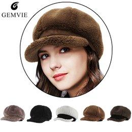 07f6563b6c1 Fall Winter Hats Women Newsboy Caps Berets Warm Thicken Plush Beret Cap  Ladies Fashion Solid Octagonal Cap sombrero de mujer