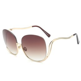 Clear Resin Coating Australia - Lady Sunglasses for Women Vintage Wrap Metal Frame Clear Sexy luxury Sun Glasses Coating Mirror Glasses oculos de sol