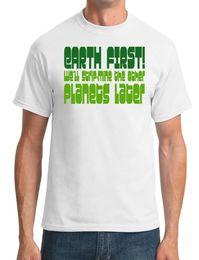 Black Strip T Shirt Australia - EARTH FIRST! We'll strip-mine the other planets later. - Mens T-Shirt Men Women Unisex Fashion tshirt Free Shipping black