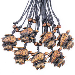 pendants strings Australia - Jewelry Wholesale 12PCS Hot tribal style Sea trutle mother & child charms pendants necklaces gifts Lucky amulet TT7