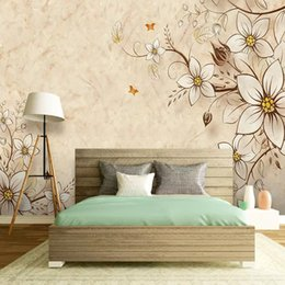 Chinese tv paCkage online shopping - 3d European luxury atmosphere TV background wall cloth wall living room sofa bedroom soft package marble texture wallpaper mural