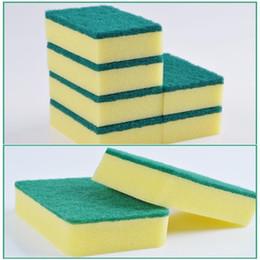 Kitchen Blocks Australia - 2019 High Density Rubber-impregnated Sponge Clean Wipe Dishwash Sponge Wipe Cleaning Cloth Sponge-block Household Kitchen 500pcs