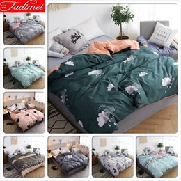 beds single size Australia - 1 piece Duvet Cover 150x200 180x220 200x230 220x240 Adult Kids Cotton Bedding Bag Single Full Queen King Size Bedspreads Comfort