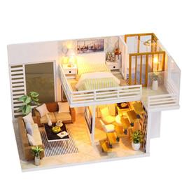 $enCountryForm.capitalKeyWord Australia - Miniature Super Mini Size Doll House Model Building Kits Wooden Furniture Toys Diy Dollhouse Girl Bedroom Simple And Elegant Toy Y19070503