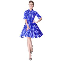 Wholesale 1950s dresses for sale – plus size Heroecol Vintage s s Dress Style Retro Rockabiily Cocktail Polka Dot