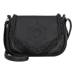 Low Price Messenger Bags UK - Easy shopping Popular hot sale Retro Womens Leather Crossbody Bag Hollow Shoulder Bags Messenger Bag Coin Lowest price