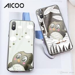 f1c83f57ac AICOO Owl Cartoon Mobile Phone Cases HOCO TPU Tempered Glass Cute  Anti-Fingerprint Phone Case for iPhone XS MAX XR X Retail Package