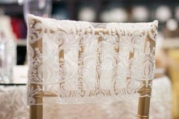 Champagne Chair Australia - 2019 Lace Custom Made Wedding Chair Covers Cheap Elegant Chair Sashes VintageWedding Decorations Wedding Accessories C02