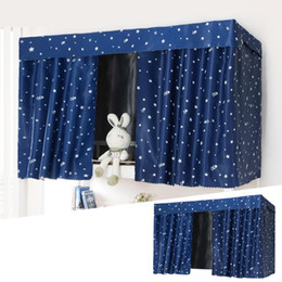 Discount canopy fabrics - Thickened Multi-color Bed Curtains Dormitory Shading Cloth Canopies Drapes Polyester Fiber Exquisite Craftsmanship Bed C