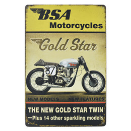 Vintage motorcycle posters online shopping - 40 style Motorcycle bike Vintage Craft Tin Sign Retro Metal Painting Antique Iron Poster Bar Pub Signs Wall Art Sticker
