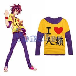 "$enCountryForm.capitalKeyWord Australia - Wholesale- Anime ""no Game No Life"" Sora Cosplay Long Sleeve Casual T-shirt Men Women Cotton T Shirts Tops Tee Shirt M L Xl Xxl"