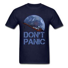Venta al por mayor de marca de ropa de diseñador para hombre polo Novedad Ocupar la Tierra SpaceX Camiseta Starman Hombre Elon Musk Space X Camiseta Camiseta de verano Don't Panic