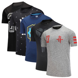 Wholesale Basketball short sleeve Men Kobe Owen Loose Quick drying Short sleeve Large size Run Breathable Fitness Sports t-shirt factory wholesale