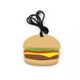 $enCountryForm.capitalKeyWord UK - 100% FDA Silicone Sensory Chew Necklace Toy Hamburger Shape Teether, Best for Sore Gums Pain Relief And Kids With Special Need ,BPA-Free