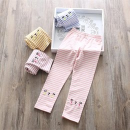 Pant Cotton Children Girl Canada - good quality 2019 Girls Pants Spring Autumn Children Striped Long Pants Clothes Children Leggings Girls Kids Cotton Casual Pants