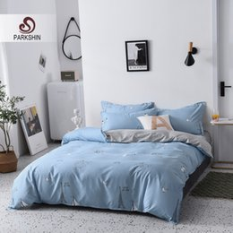 $enCountryForm.capitalKeyWord Australia - ParkShin Cartoon Bedding Set Blue Duvet Cover Set Bedclothes Decorative Home Bed Linen Flat Sheet Bedspread Quilt Cover