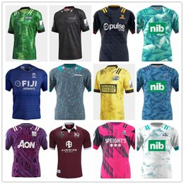 Ingrosso 2020 camicie Chiefss Maori Blues Hurricanes Crusaders Highlanders Super rugby Jersey New Zealand Rugby Maglie vendita calda
