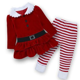 $enCountryForm.capitalKeyWord UK - 2019 Spring Autumn baby girls christmas outfits Sport suit clothing set Father Christmas tripe pants kids clothes sets
