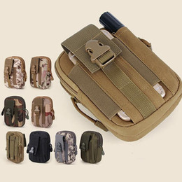 iphone tactical UK - Cosmetic Bags Wallet Phone Case 5'Universal Outdoor Tactical Holster Military Molle Hip Waist Belt Bag with Zipper for iPhone LXL915L