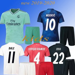 035efa78d07 2019 Real Madrid kids MARIAN home Away soccer jersey 2018 2019 BENZEMA  SERGIO RAMOS MORATA ISCO ASENSIO BALE football jersey shirt