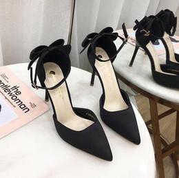 $enCountryForm.capitalKeyWord Australia - 2019 Korean style Women Bow bridal high-heeled shoes Dress Pumps wedding party shoes girl Homecoming dance shoes Women Office shoe