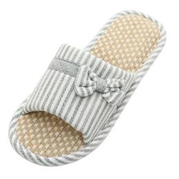 $enCountryForm.capitalKeyWord Australia - Summer Indoor Bedroom Floor non-slip Soft Bottom Home Shoes Home Couple Japanese-style Linen Cotton Slippers Men Women Seasons