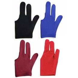 Snooker billiard pool online shopping - Outdoor Durable Nylon Fingers Glove for Billiard Pool Snooker Cue Shooter colors New Billiard Accessories