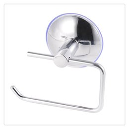 stainless steel cup holders NZ - Toilet Roll Holder Bathroom Supplies Stainless Steel Wall Mount Vacuum Suction Cup Tissue Roll Hanger Home Supplies