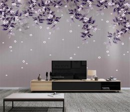 $enCountryForm.capitalKeyWord Australia - 2019 Nordic hand-painted leaves wisteria flowers small fresh background wall Indoor TV Background Wall Decoration Wallpaper