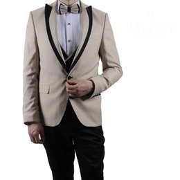 a27c2b9696 Unique Designer Groom Wedding Tuxedos Tweed Peaked Lapel Mens Jacket Formal  Prom Party Blazer Custom Made Only One Piece