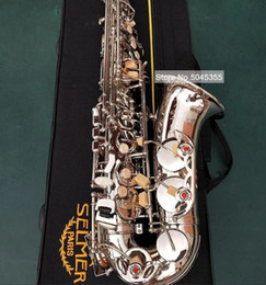Nuovo Mark VI Modello classico Modello Alto EB Tune Saxophone Nichel Placcato Sax piatto con cassa Bocchino Professionale Spedizione gratuita in Offerta