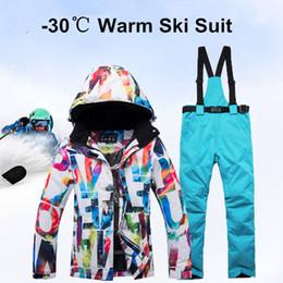 $enCountryForm.capitalKeyWord Australia - New Thick Warm Ski Suit Women Waterproof Windproof Skiing and Snowboarding Jacket Pants Set Female Snow Costumes Outdoor Wear