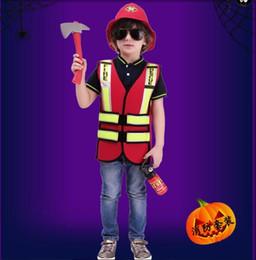$enCountryForm.capitalKeyWord UK - kid Cosplay Fireman Costume Child Halloween Firefighter Christmas Fancy Party Wear Kindergarten Game Stage Clothing Party