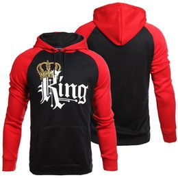 66b4f1fbc79b40 Men Hoodies Women Sweatshirts Couple wear clothes Queen King Print Hoodie  Winter long sleeve hoodie clothing 268