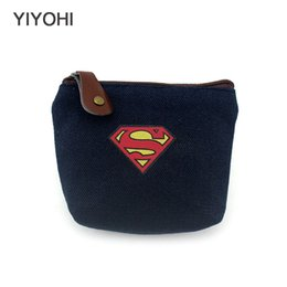 $enCountryForm.capitalKeyWord UK - YIYOHI Unisex 3 Colors Canvas Coin Purse Wallet Fashion Superman Key Pouch Bag creative Mini Change Purses Wallets For Gift #90994