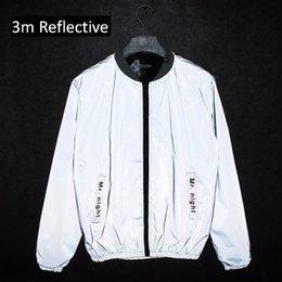 Cool Windbreaker Jackets Australia - Men Bomber Jacket Unisex Reflective Jackets Fashion Cool Hiphop Coat Waterproof Windbreaker Outwear Mens Casual Coats 6 Styles