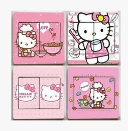 $enCountryForm.capitalKeyWord Australia - Hello Kitty Light Switch Stickers princess Home Decoration Accessories Wall Stickers For Kids Rooms Border Tiles For Bathrooms