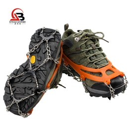 Bag Teeth Australia - Stainless steel 8 teeth crampons Outdoor camping adapter Snow cleats Simple climbing shoe covers Send 1 bag for the price