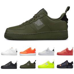 Venta al por mayor de Moda Nike Air Force 1 Utility Classic Black White Dunk Hombres Mujeres Zapatos casuales Red One Sports Skateboard High Low Cut Wheat Entrenadores Zapatillas de deporte ShopPobs