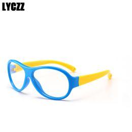 fa3ee3d1f90 LYCZZ New Children s Eyeglass Frame Optical Eyewear Myopia Amblyopia Glasses  for Boy and Girl Clear Silicone Frame Eye glass