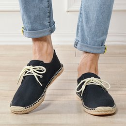$enCountryForm.capitalKeyWord Australia - Mens Canvas Shoes Summer Breathable Fashion Casual Flat Loafers driving lazy Comfortable Espadrille Fisherman Linen Shoes Sapato Hombre