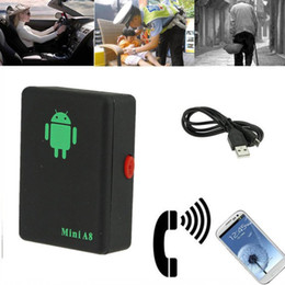 Discount real phones for kids - Mini A8 Real Time Car GPS Tracker Global Locator Tracking Device GSM For Car Kid Pet DHL UPS Free