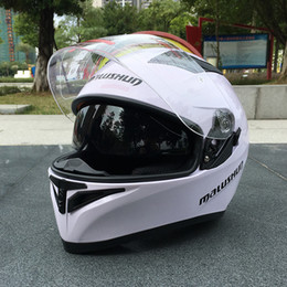 Xxl Motorcycle Half Helmets Australia - High-quality ABS resin motorcycle full face helmet,cing stylish dual-lens ra helmet, helmet,cing stylish dual-lens