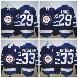 Hot Sell Men s Ice Hockey Jersey 33 Dustin Byfuglien 29 Patrik Laine Mens  Jersey 2018 New Winnipeg Jets Hockey Jerseys Custom b8c3ee9ab