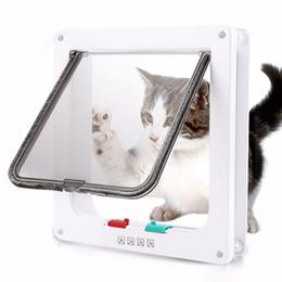 Chatière avec 4 voies de sécurité de verrouillage pour porte à battant chaton Chien Chat Rongeur porte Kit Cat Supplies porte en Solde