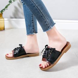 $enCountryForm.capitalKeyWord Australia - 12019 Women Cross Tied Summer Sandals Slippers Flat Flip Flops Beach Shoes Open Toe Slippers Women Casual Slides