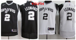 $enCountryForm.capitalKeyWord NZ - Youth San Jersey Spurs Kawhi Leonard Pau Gasol Stitched Baketball Jersey - Black White