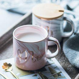 $enCountryForm.capitalKeyWord NZ - Classic Marble Porcelain Coffee Mug Hand Painted Ceramic Mr and Mrs Tea Milk Cups Cafe Drinkware Novelty Gifts