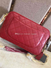 $enCountryForm.capitalKeyWord NZ - quality women shoulder messenger bags quilted lattice genuine leather handbags chain crossbody bag fashion Camera bag Lambskin purses
