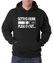drinking hat beer Australia - Funny Hoodies Getting Drunk Beer Funny Men Sweatshirts 2019 Autumn Winter New Warm Fleece High Quality Tracksuit Hoody For